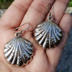 Vintage Taxco Mexico TN49 Shell Drop Earrings
